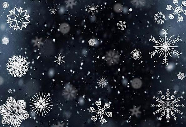 Snowflake Snowing Sleeting Snow Winter Season Cold