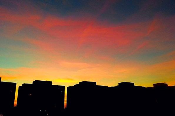 Debrecen Hungary Vacation Travel Sunset Sundown In