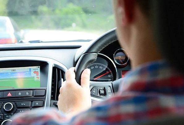 Driving Heavy Traffic Steering Transportation Car