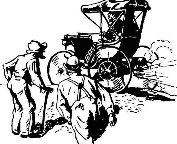 Old Car Traffic Transportation Steam Driven Antiqu