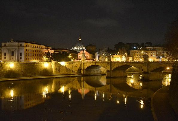 Rome Bond Italy Bridge Night Nightly