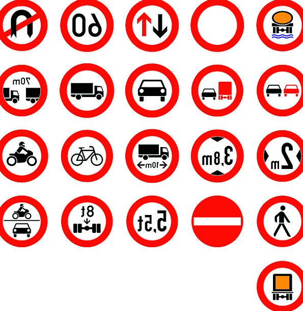 Roadsigns Traffic Transport Transportation Warning