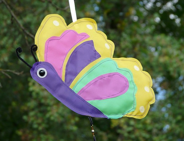 Butterfly Interesting Cheerful Happy Colorful Wind