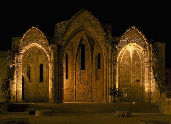 Church Ecclesiastical Shells Night Nightly Ruins V