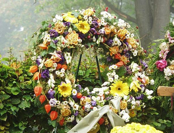 Grabschmuck Garland Death Demise Wreath Funeral Se