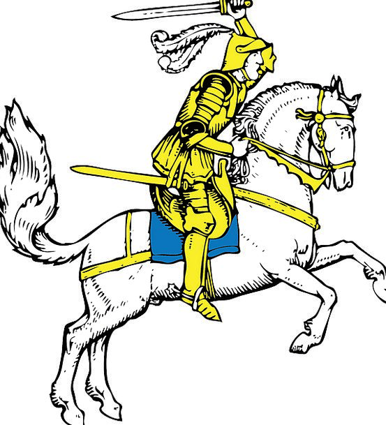 Knight Cavalier Feudal Warrior Medieval Charging S