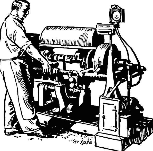 Machine Mechanism Working Employed Crankshaft Man