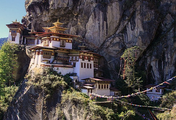 Monastery Cloister Landscapes Nature Buddhists Tig