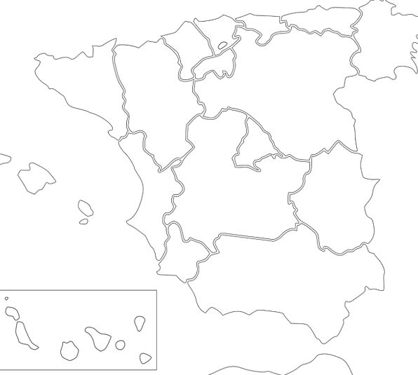 Spain Chart Europe Map Country Republic Spanish Fr