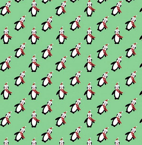 Christmas Textures Backgrounds Penguins Penguin De