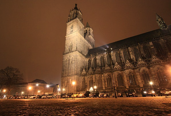 Magdeburg Night Photograph Dom