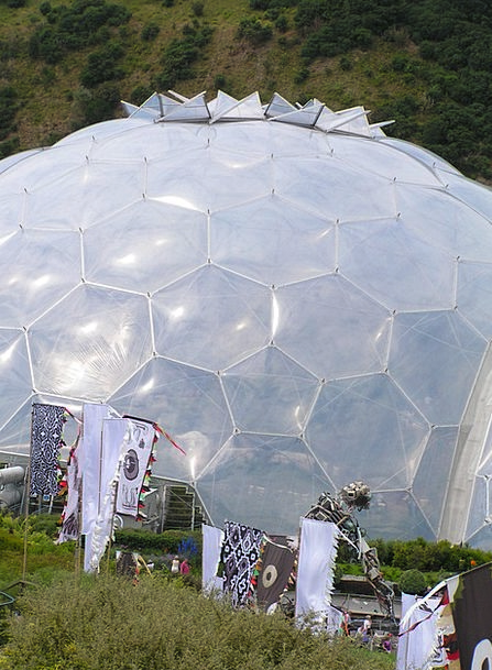 Art Painting Cornwall Eden Project England Greenho