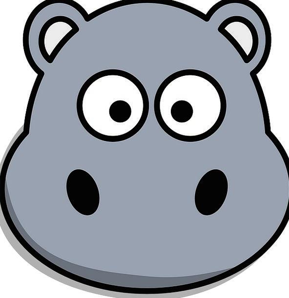 Hippo Skull Cartoon Animation Head Cute Attractive