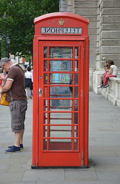 Phone Booth Communication Computer London Telephon