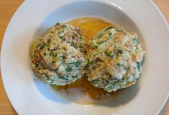 Spinach Dumplings Drink Food Butter Melting Dumpli
