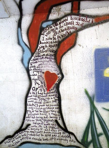 Graffiti Drawings Partition Wordsworth Wall Heart