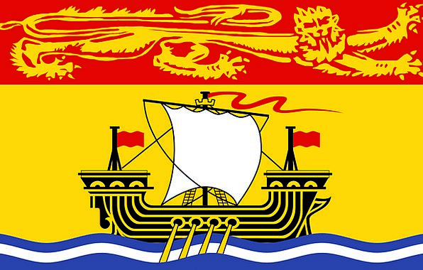 New Novel Flag Standard Brunswick Free Vector Grap