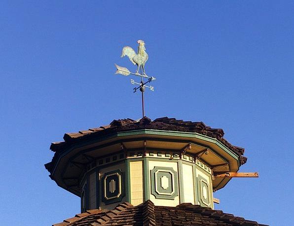 Weathervane Rooster Fowl Weather Vane Wind Breeze