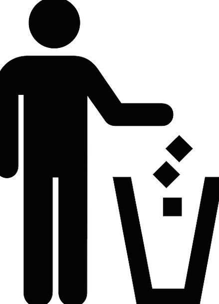 Litter Disorder Removal Person Being Disposal Icon
