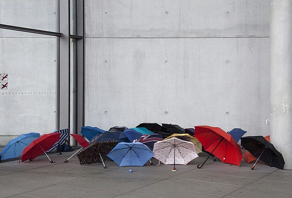 Umbrellas Canopies Strained Weather Climate Stretc