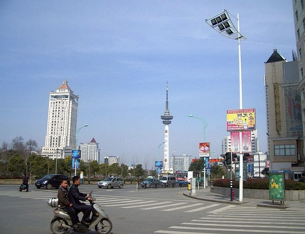 City Urban Buildings Road Architecture China Porce