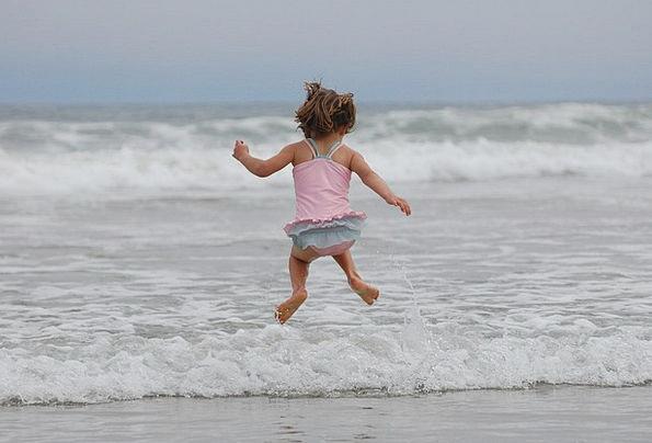 Girl Lassie Seashore Ocean Marine Beach Splash Wav