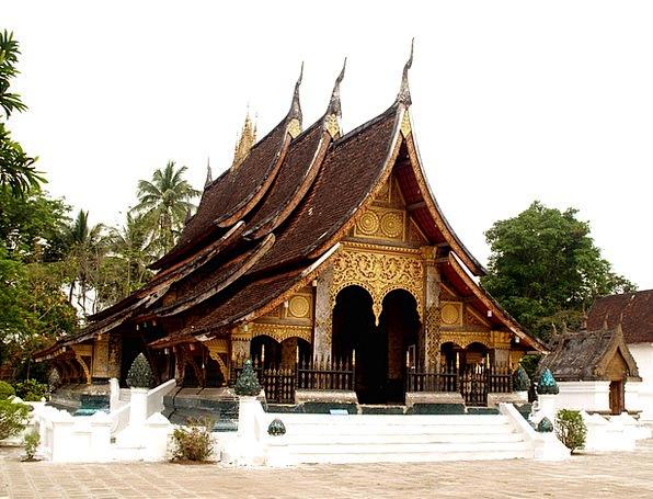 Temple Shrine Laos Luang Prabang Phabang Asia Meko