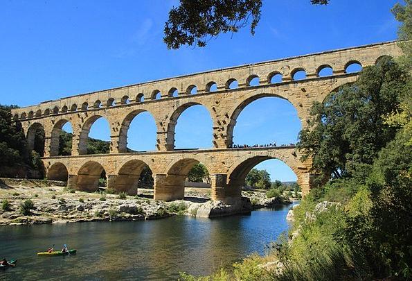 Pont Du Gard Buildings Architecture France Provenc