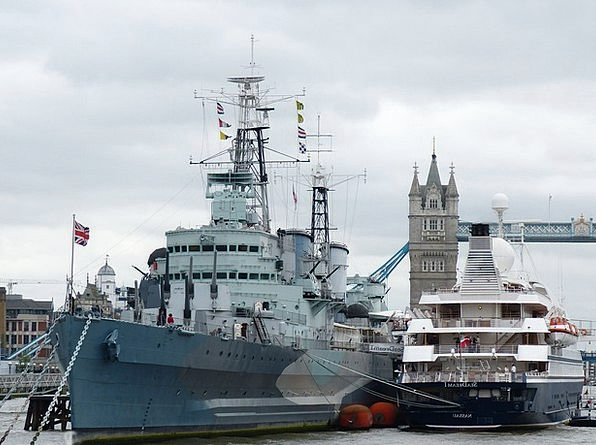 Warship Buildings Architecture London Tower Bridge