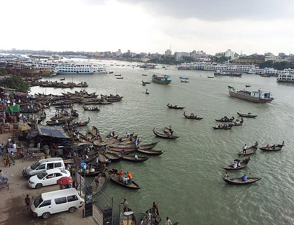 Bangladesh Buriganga River Dhaka People Public Asi