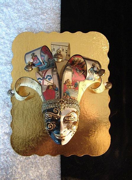 Mask Cover Gilded Venetian Gold Carnival Festival