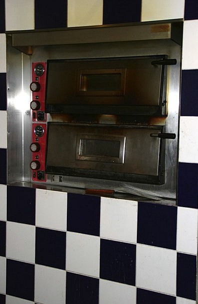 Pizza Oven Eatery Tile Inlay Restaurant Black And