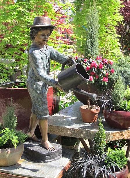 Statue Figurine Garden Statue Bronze Garden Plot G