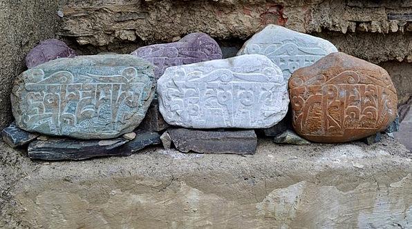 Stones Gravels India Ladakh Landmark Religion Fait
