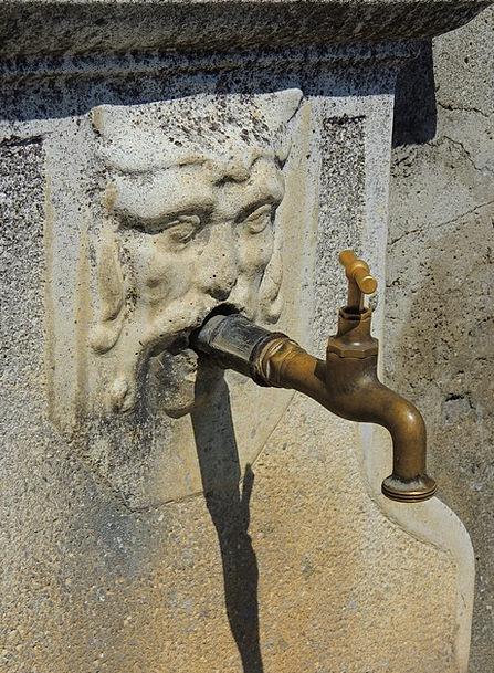 Tap Blow Statue Old Ancient Sculpture Water Aquati