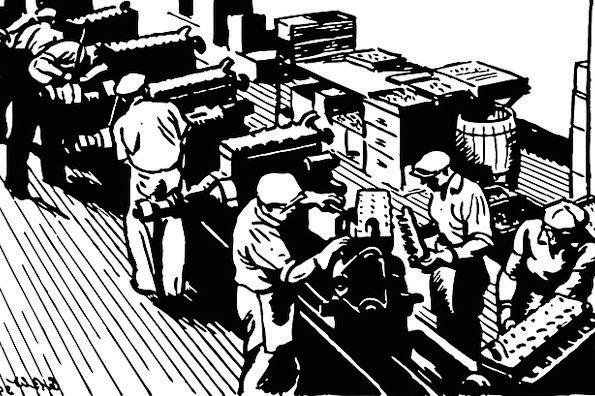 Factory Sweatshop Traffic Carriage Transportation