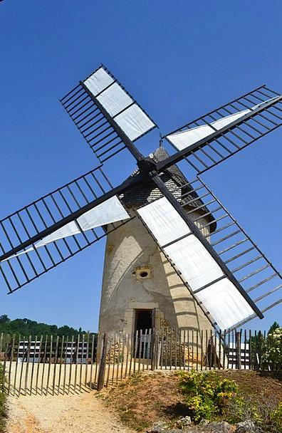 Windmill Grinder Bournat Mill Bugue Old Ancient