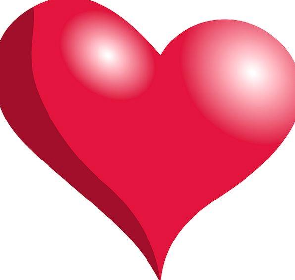 Heart Emotion Bloodshot Love Darling Red Surface Shapes