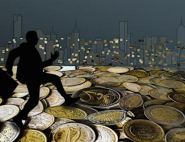 Skyline Horizon Changes Man Gentleman Coins Silhue