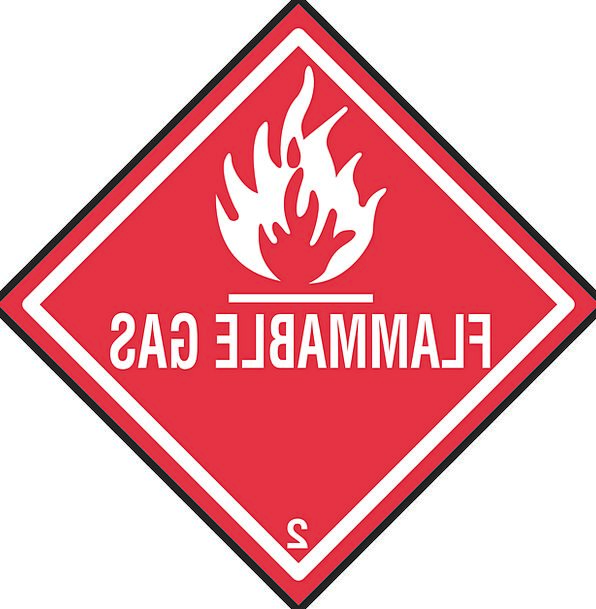 Safety Care Air Warning Cautionary Gas Sign Hazard