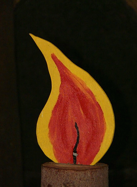 Flame Blaze Taper Christmas Candle Selberbauen Lig
