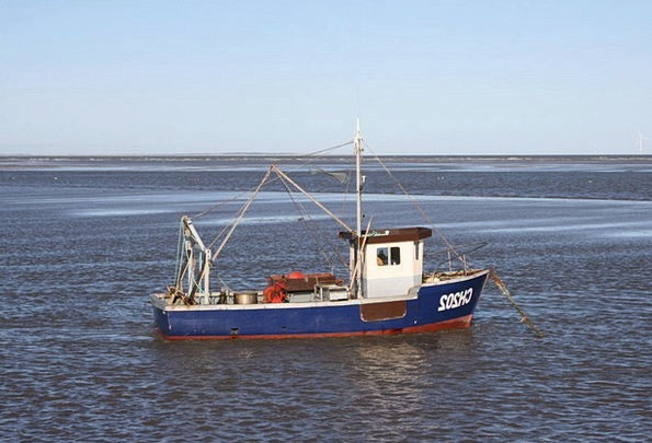 Fishing Angling Ship Moored Tied Boat Still Sea Ma