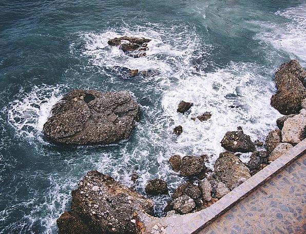 Nerja Vacation Marine Travel Rocks Pillars Sea Bea
