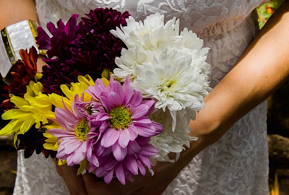 Bouquet Bunch Plants Marriage Nuptial Flowers