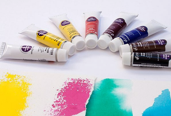 Oil Paints Hue Soluble In Water Color Brown Tubes