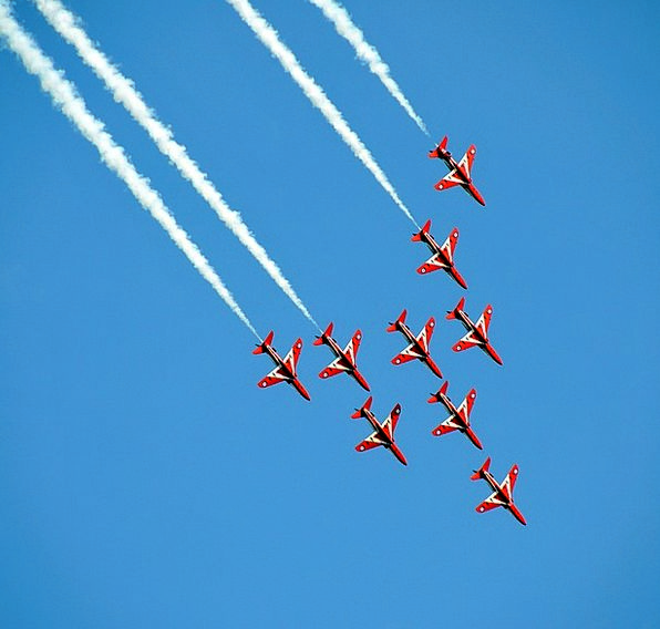 Airshow Flyover Aerobatic Fighter Jets Formation F