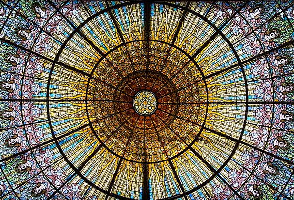 Barcelona Stained Glass Glass Window About Around