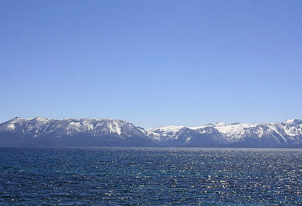 Lake Tahoe Landscapes Nature Mountains Crags Nevad