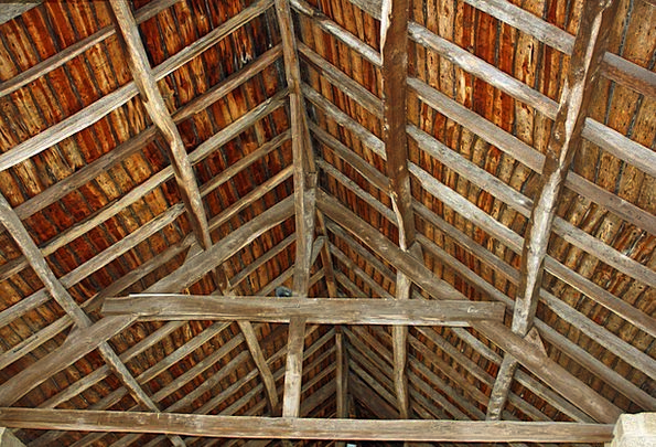 Roof Rooftop Planks Wooden Timber Slats French Timbers