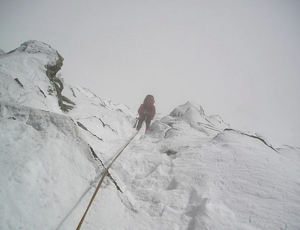 Abseil Mist Snow Snowflake Fog Alpinism Bergsport